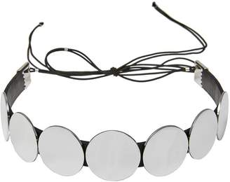 Colette Malouf Lunar Leather Choker Necklace