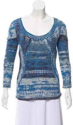 Rag & Bone Crocheted Long Sleeve Sweater