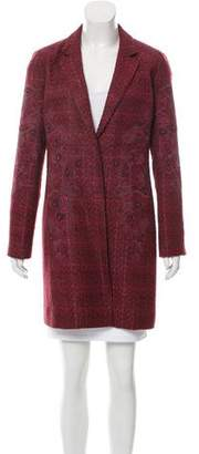 Tory Burch Embroidered Tweed Coat