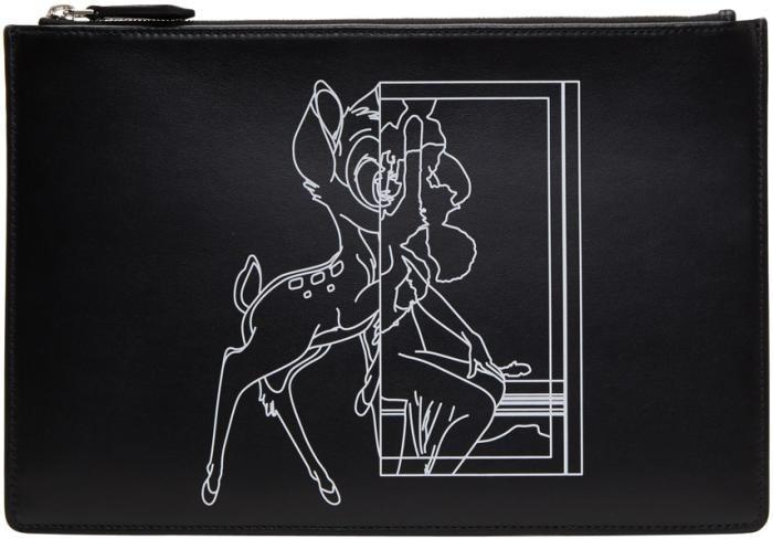 Givenchy Black Medium Bambi Pouch