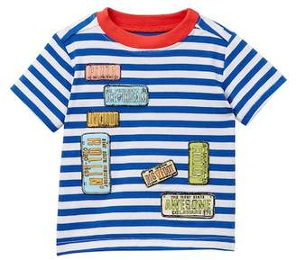 Andy & Evan Striped License Plate Tee (Baby Boys)