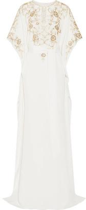 Oscar de la Renta - Embroidered Silk-crepe Gown - Ivory $4,290 thestylecure.com