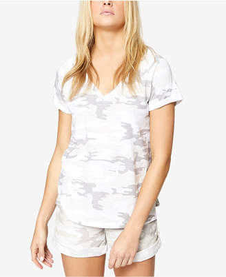 Sanctuary Cotton Camo-Print T-Shirt