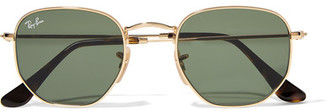 Ray-Ban - Hexagonal-frame Gold-tone Sunglasses $150 thestylecure.com