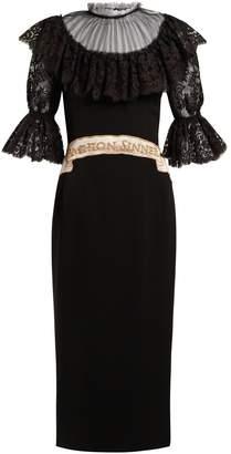 Dolce & Gabbana Fashion Sinner-embroidered midi dress