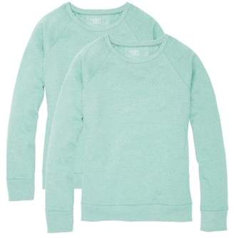 Time and Tru Women's Essential Fleece Crewneck Pullover Sweatshirt (2-pack)
