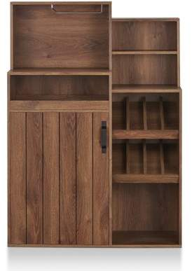 Furniture Of America Furniture of America Tusca Rustic Wine Cabinet Buffet