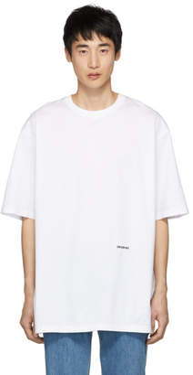 Calvin Klein White Embroidered Logo T-Shirt