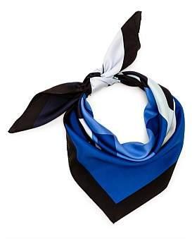 Tory Burch Color-Block Logo Silk Square Scarf