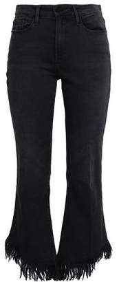 Frame Le Crop Frayed High-rise Kick-flare Jeans
