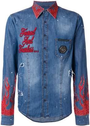 Philipp Plein crystal embellished jacket