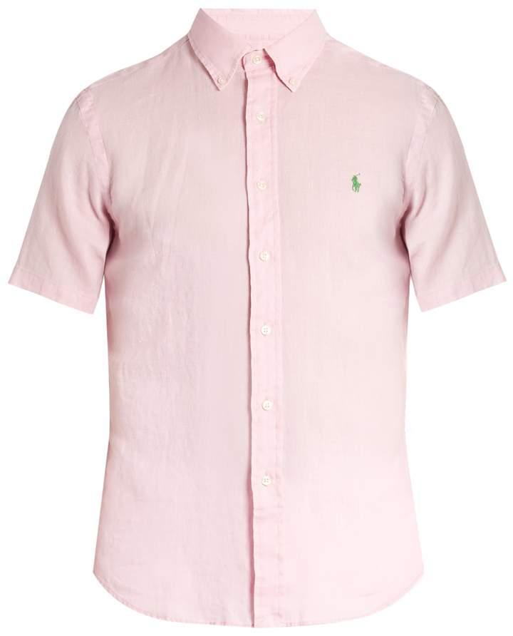 Polo Ralph Lauren Button-down collar short-sleeved linen shirt