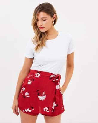 Bardot Floral Wrap Skort