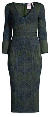 Herve Leger Jacquard Column Bandage Dress