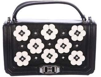 Rebecca Minkoff Leather Floral Love Crossbody Bag