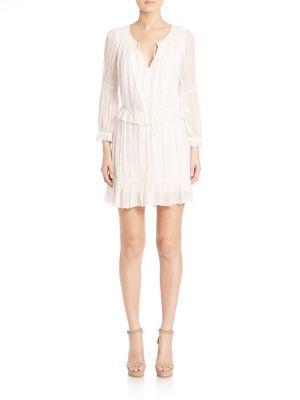 Diane von Furstenberg Edlyn Embroidered Ruffled Dress $398 thestylecure.com