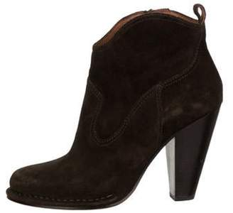 Frye Suede Ankle Boots Olive Suede Ankle Boots