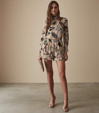 Reiss GAIL BUTTERFLY PRINTED PLAYSUIT Multi