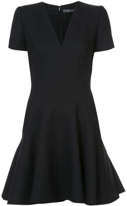 Alexander McQueen V-neck flared mini dress