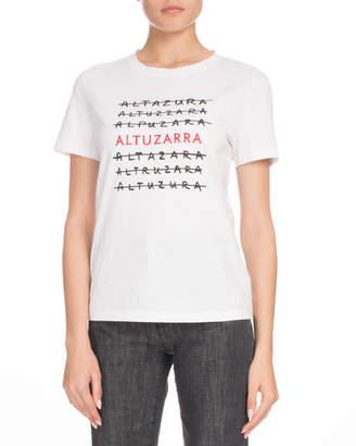 Altuzarra Crewneck Short-Sleeve Logo-Print Tee