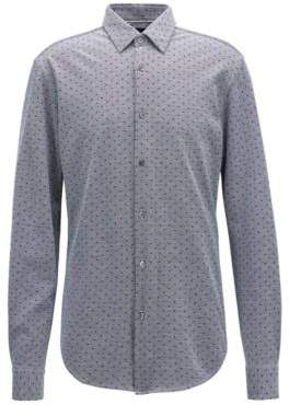BOSS Hugo Slim-fit shirt exclusive all-over print L Open Blue