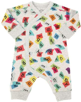 Burberry Letters Printed Cotton Romper