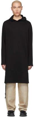 Yohji Yamamoto Black Long Hoodie