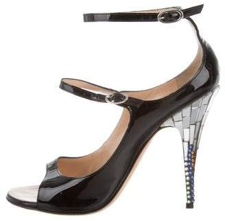 Giuseppe Zanotti Patent leather Ankle-Strap Pumps