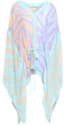 Roberto Cavalli Zebra-printed Silk-georgette Top