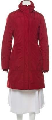 Post Card Knit-Trimmed Knee-Length Coat