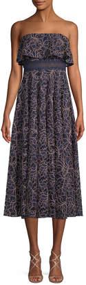 Jay Godfrey Thomas Lace Midi Dress
