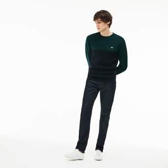 Lacoste Men's Straight Cut Five-Pocket Cotton Denim Jeans