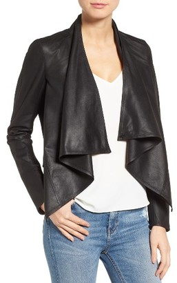 Women's Lamarque 'Madison' Drape Front Suede Jacket $425 thestylecure.com