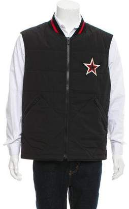 Givenchy Star Applique Quilted Vest