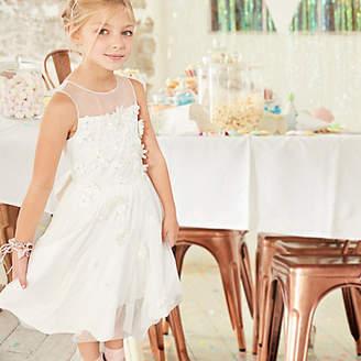 River Island Girls white tulle skirt flower girl dress