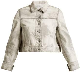 Eckhaus Latta Bleached-denim cropped jacket