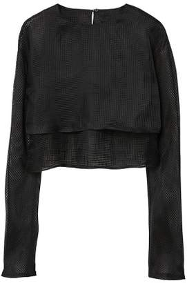 MANGO Sheer double-layer blouse