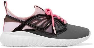 Sophia Webster Fly-by Rubber And Leather-trimmed Neoprene Sneakers - Pink