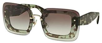 Miu Miu MU02RS 67mm Sunglasses - Size: 67-17-140 - Color: Green Havana