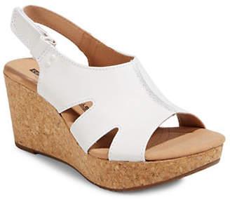 Clarks Annadel Bari Leather Wedge Sandals