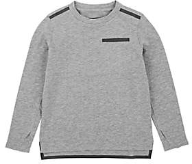 Barneys New York Kids' Taped Cotton-Blend T-Shirt-Gray