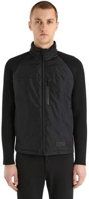 Prada Nylon & Stretch Wool Hybrid Down Jacket