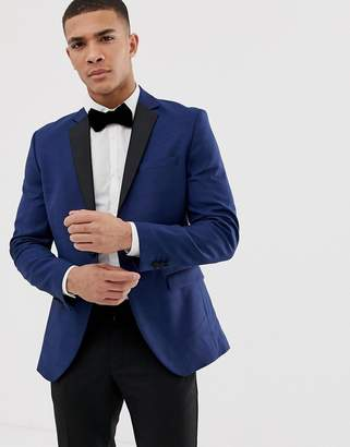 Jack and Jones tuxedo suit jacket with contrast lapel
