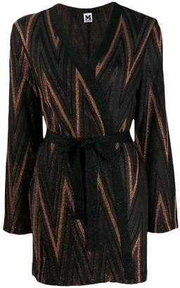 M Missoni Zigzag metallic knit cardigan