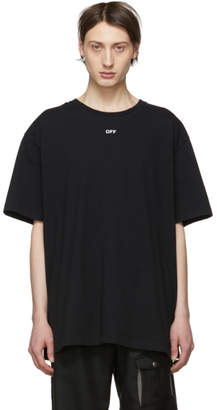 Off-White Off White Black Oversized Diag Skulls T-Shirt
