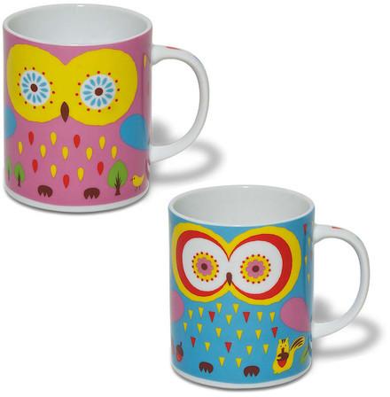 Jewel Japan Owl Mug Cool Set Of 2