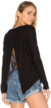 Chaser Open Cross Back Long Sleeve Tee $66 thestylecure.com