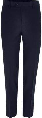 River Island Mens Navy cropped skinny fit suit pants