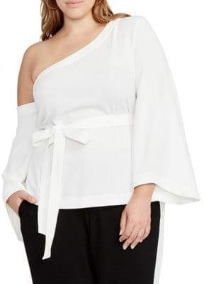 Rachel Roy One Shoulder Kimono-Sleeve Top