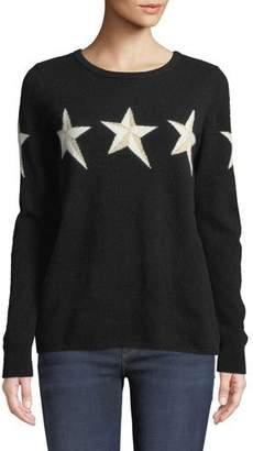 Neiman Marcus Metallic Star Cashmere Pullover Sweater